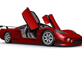 Saleen S7 Competition GT-R 3D asset