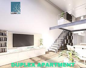 3D model Modern Duplex Apartment Scene - Lumion