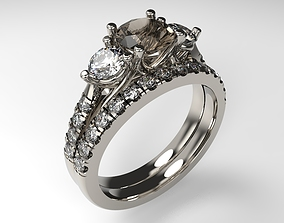 Model 138 Engagement Ring and Band