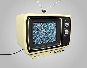 retro Old Retro TV Television 3D