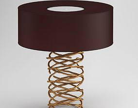 Brown And Gold Table Lamp 3D model