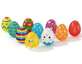 3D asset Easter Egg Cracked 11 Styles