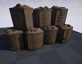 HESCO Type Barrier 3D model