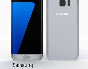 Samsung Galaxy S7 Edge Silver Titanium 3D