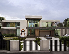 Modern villa in Moscow House 3D model