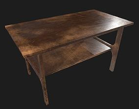 3D model Old TVset table scratched