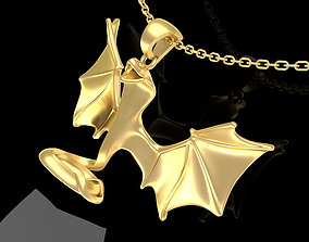 Winged Snake Sculpture Pendant Jewelry 3D printable model