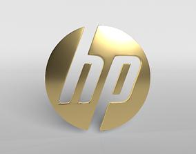 HP Logo Version1 002 3D asset