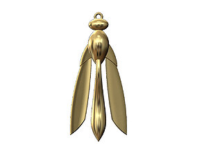 Gold Wasp dragonfly pendant 3D print model