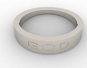 God Female Ring Platinum 3D printable model
