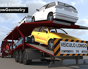 3D model Truck Carrying - Low Geometry
