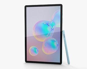 3D model Samsung Galaxy Tab S6 Cloud Blue