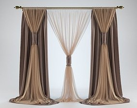 architectural 3D model Curtain 6