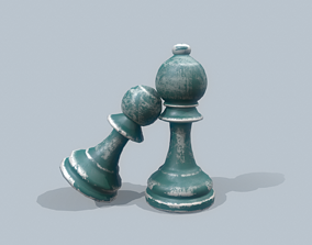 3D asset Chess pieces - PBR