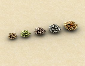 3D model bracelet Rose Collections Ring and Locketset