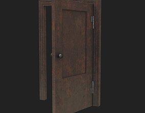 3D Old door enter