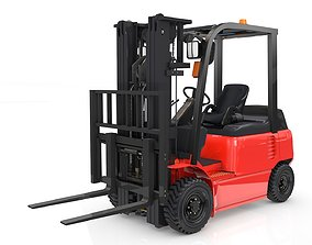 warehouse Forklift Animated 3D