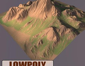 3D model VR / AR ready game Lowpoly Mountain