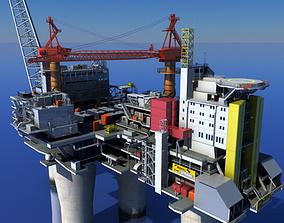 3D model Oil Gas Platform