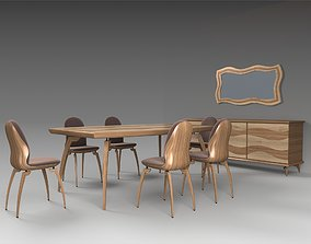 3D model Dining Furniture Set