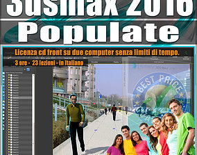 animated 001 3ds max 2016 Populate vol 1 CD Fron