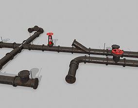 pipe set 3D asset