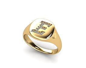 metallic 3D print model Jewelry Signature Ring