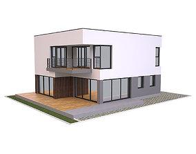 Modern House 1 3D asset