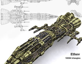 3DRT - Sci-Fi Norad Battleship - Ethev realtime