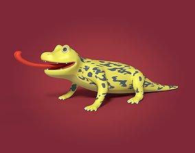 Cartoon Lizard 3D asset game-ready