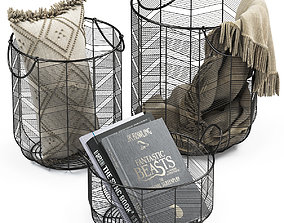 METAL BASKETS DECOR 2 hygge 3D