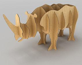 Rhino Cardboard 3D asset