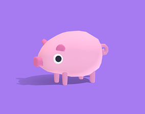 3D model Poggo the Pig - Quirky Series
