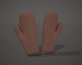 3D asset Brown Oven Glove