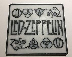 3D printable model Led Zeppelin Logo Coaster