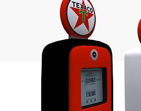 old 3D model Gas Pump Texaco