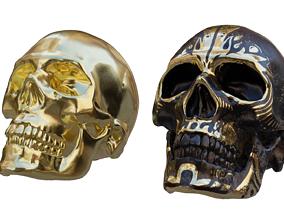 skull 3D asset game-ready Skull