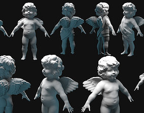 3D model cupid angel for valentines day