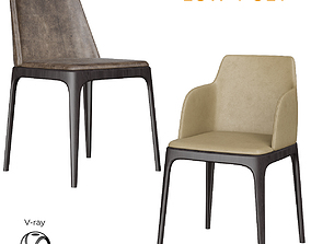 Poliform Grace Dinning Chair 3D asset