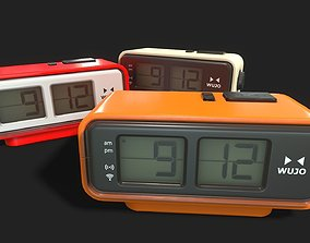 Retro Digital Flip Clock 3D asset realtime