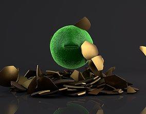 Coronavirus in the Golden egg 3D model