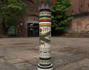 3D asset realtime Large Egyptian Column