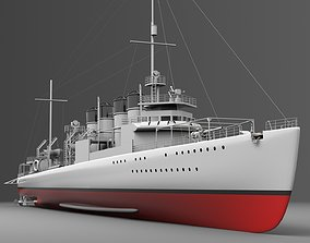 Watercraft 3 - Destroyer Ship 3D