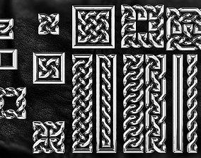 set of Celtic patterns 3D printable model