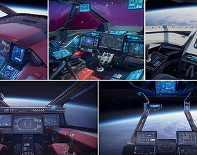 Sci Fi Cockpits Collection 3D model