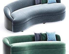 Boomerang Curved Sofa 3D