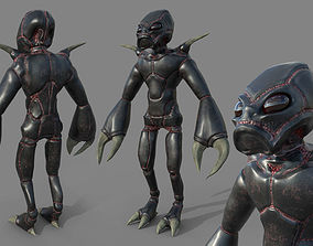 3D model Insectoid alien character - Rigged and animated
