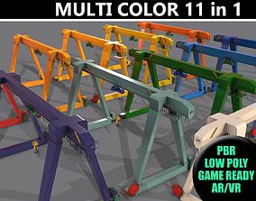 3D PBR Single Girder Gantry Crane V1 - Multi color Pack