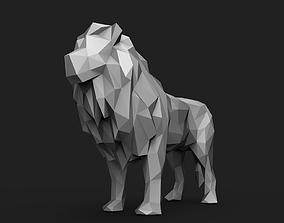 Lion Low Poly 3D print model