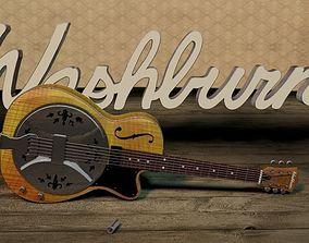 3D Washburn R60 Resonator Guitar